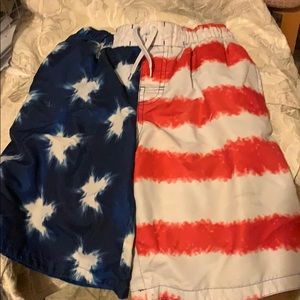 OP patriot flag USA swim shorts